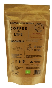 KAWA 100% ARABICA ZIARNISTA INDONEZJA BIO 200 g - ALE EKO CAFE